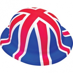 Union Jack Flag Plastic Bowler Hat
